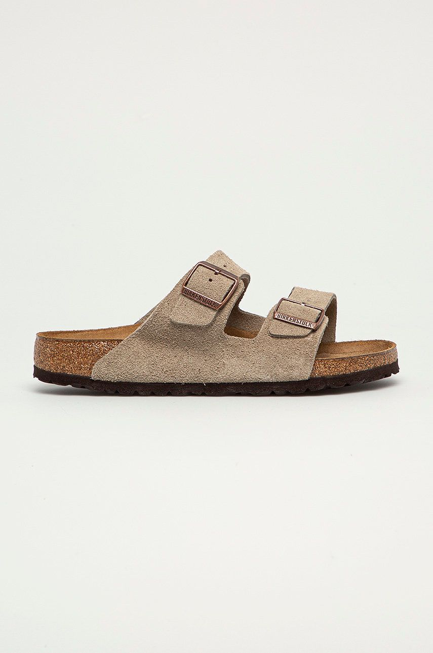 Birkenstock - Papuci din piele Arizona imagine