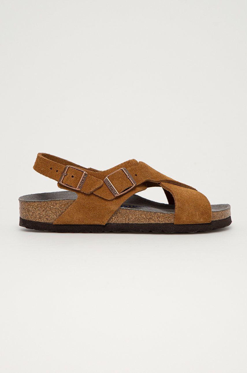 Birkenstock - Sandale din piele intoarsa Tulum
