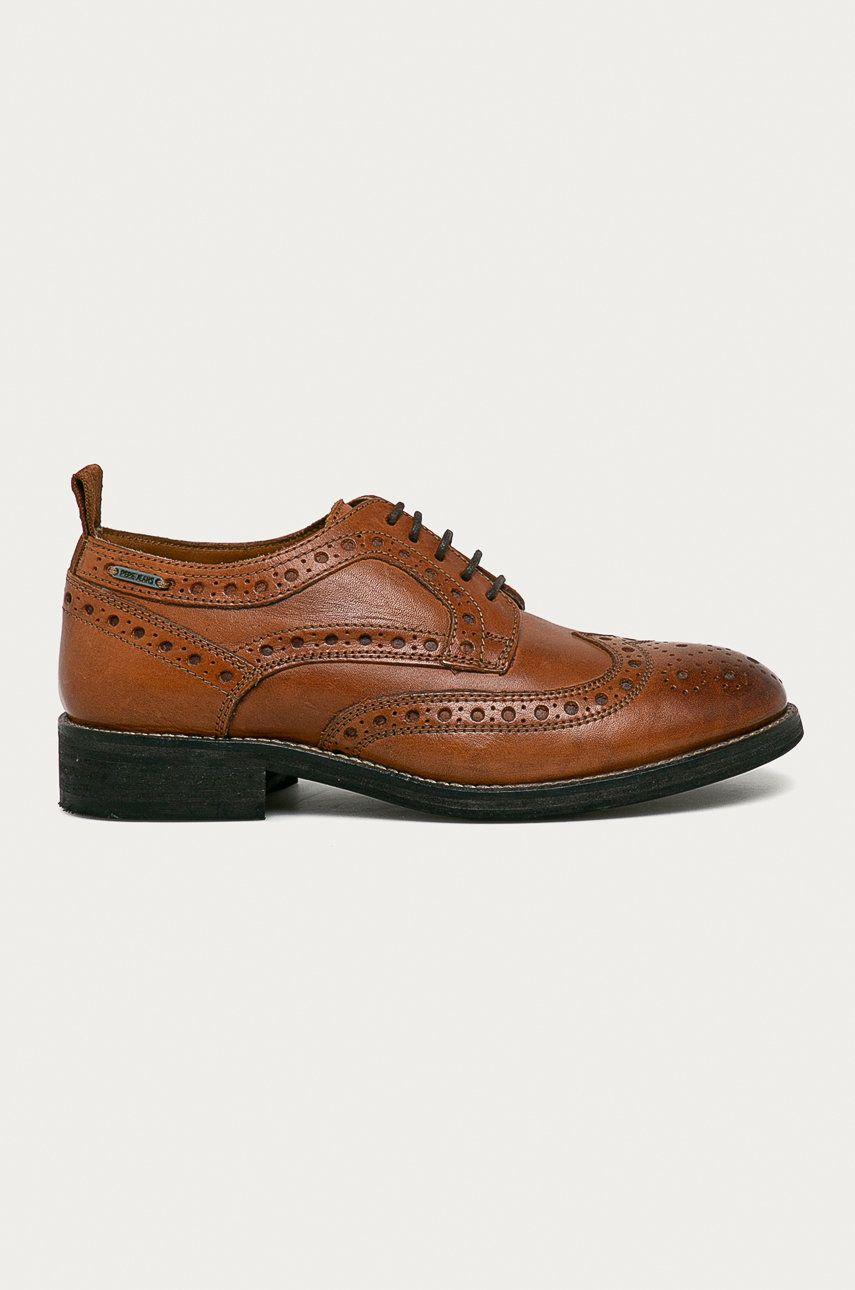 Pepe Jeans - Pantofi de piele Hackney W Brogue