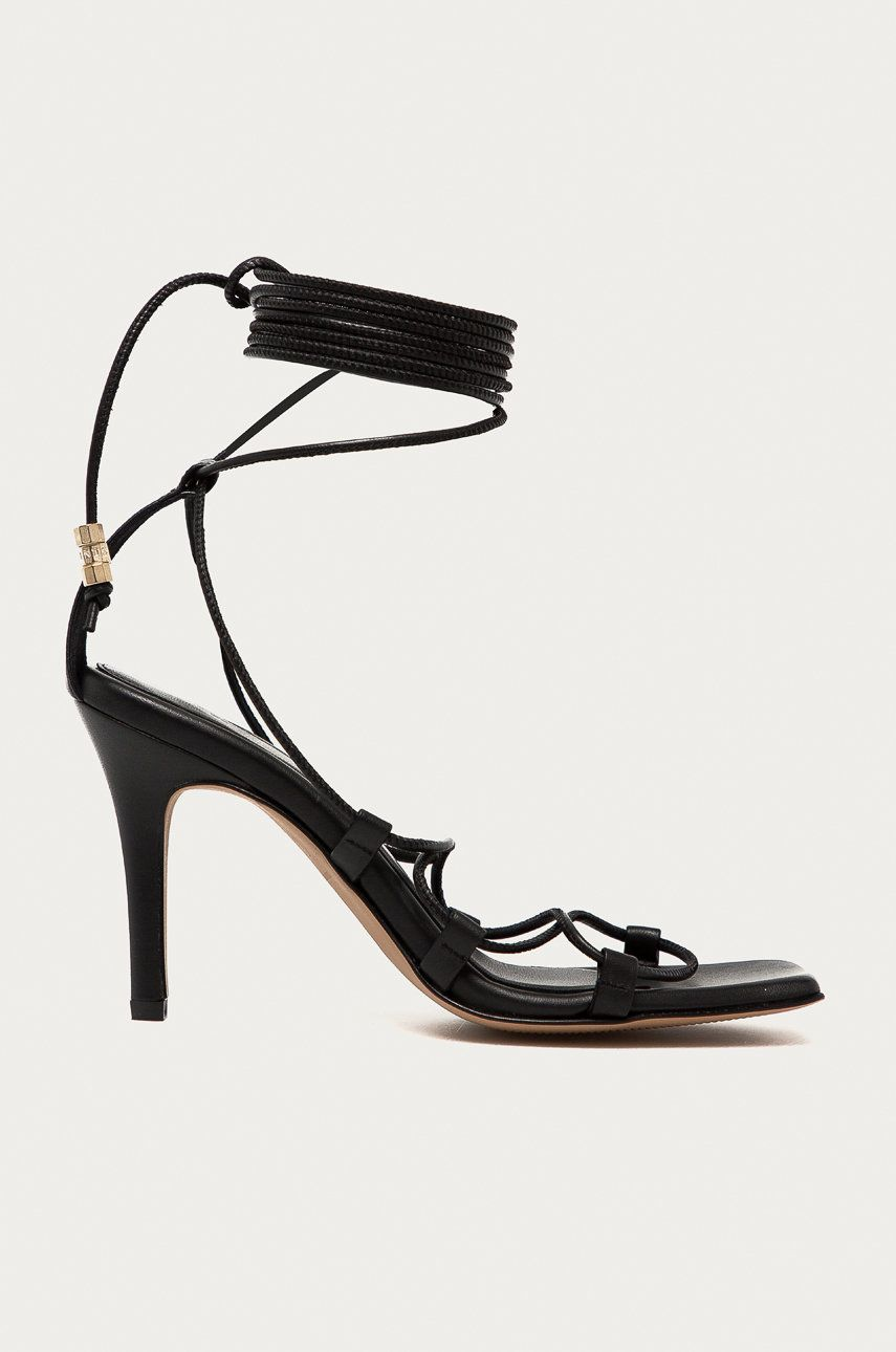 AllSaints - Sandale de piele Alice imagine answear.ro