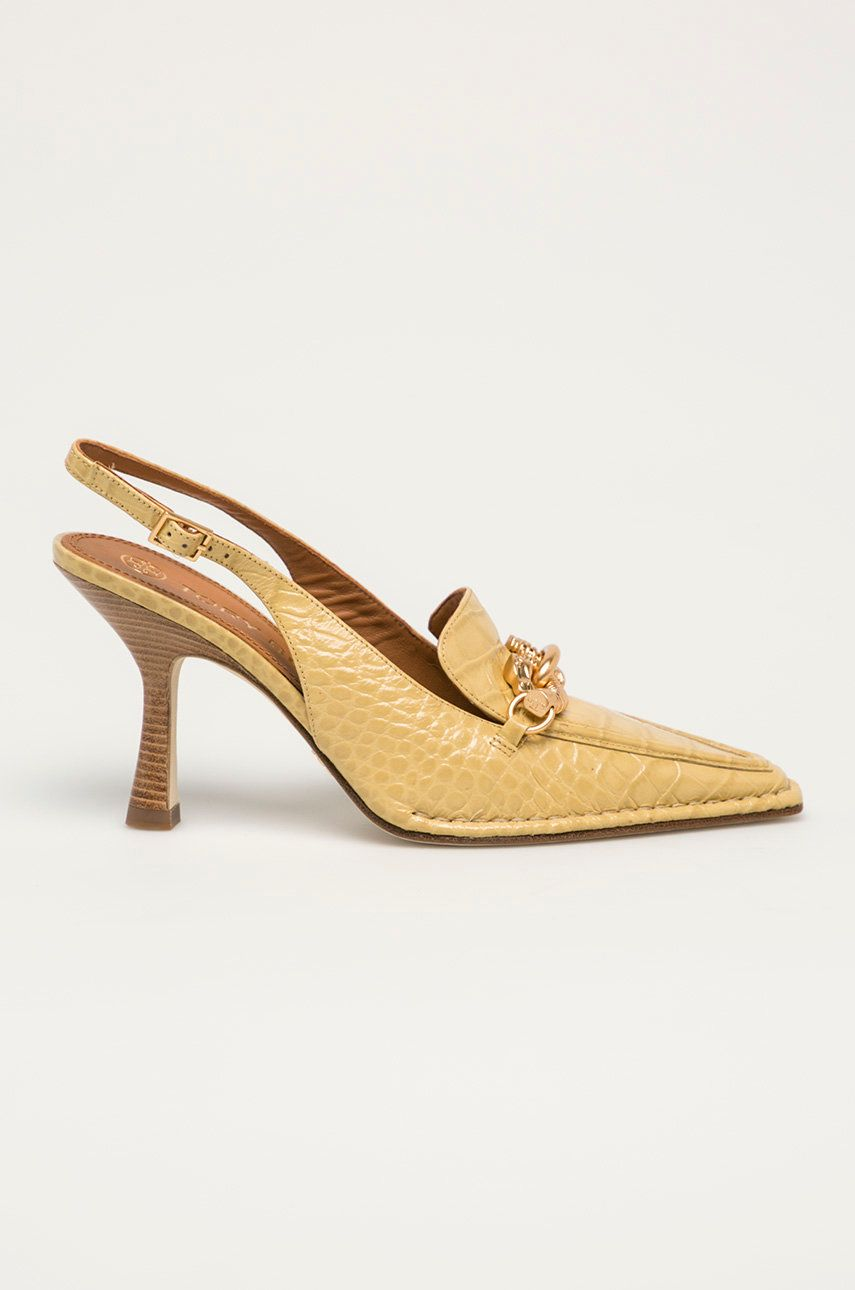 Tory Burch - Pantofi de piele Jessa poza answear