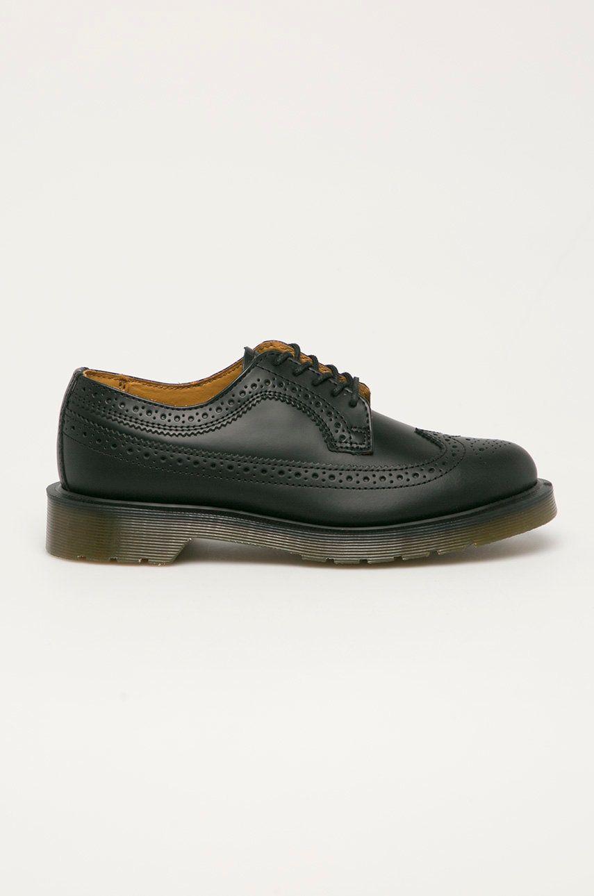 Dr. Martens - Pantofi de piele Black Smooth 3989