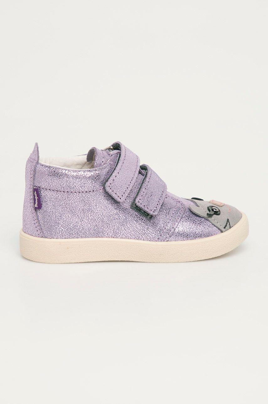 Mrugała - Pantofi din piele intoarsa pentru copii answear.ro