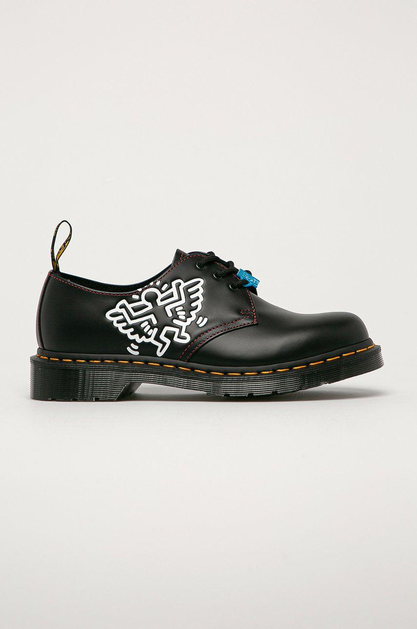 Dr. Martens - Pantofi de piele x Keith Haring imagine answear.ro 2021