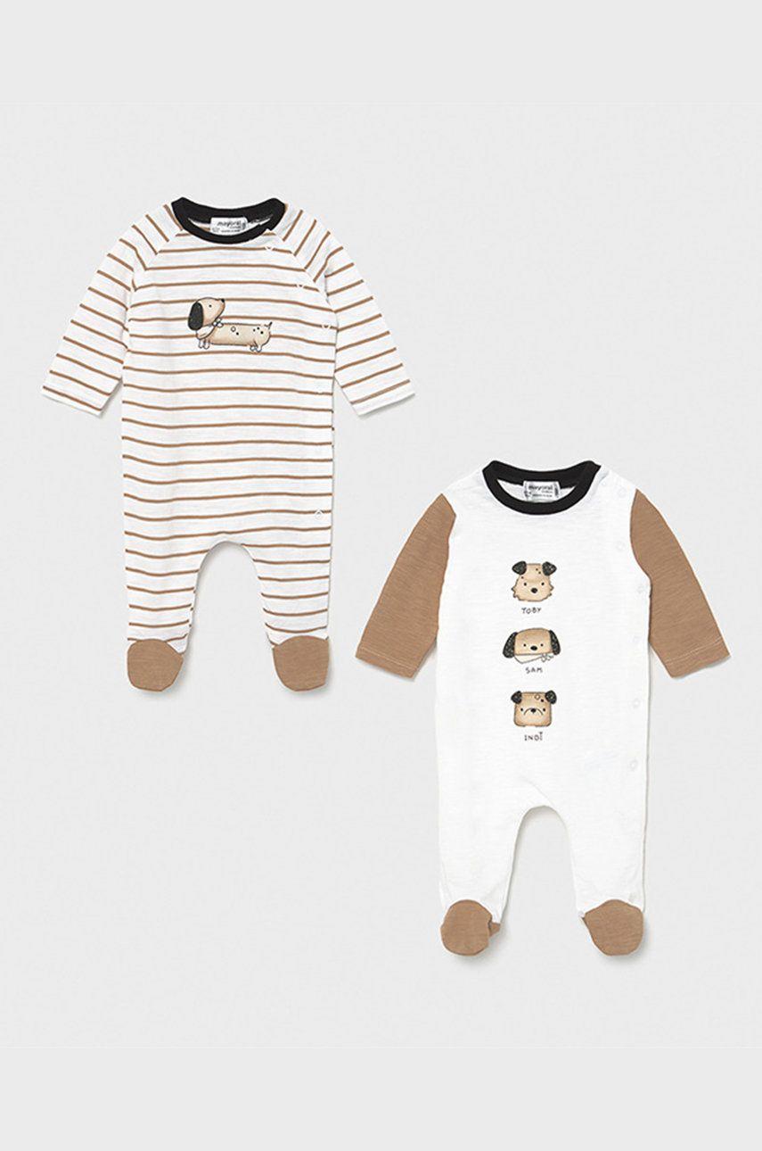 Mayoral Newborn - Costum bebe 55-86 cm (2-pack) imagine answear.ro 2021