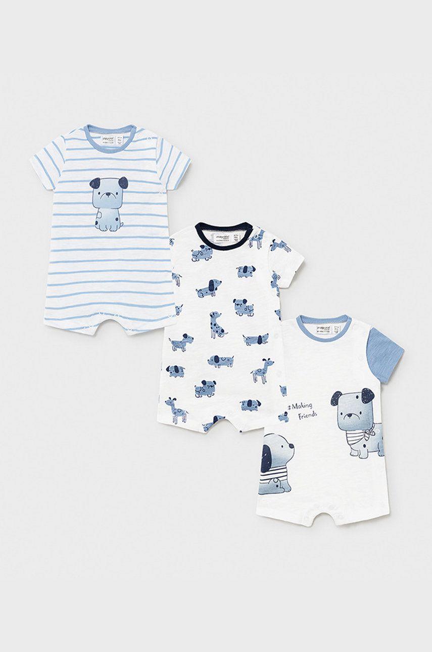 Mayoral Newborn - Body bebe 55-86 cm (3-pack) imagine answear.ro 2021