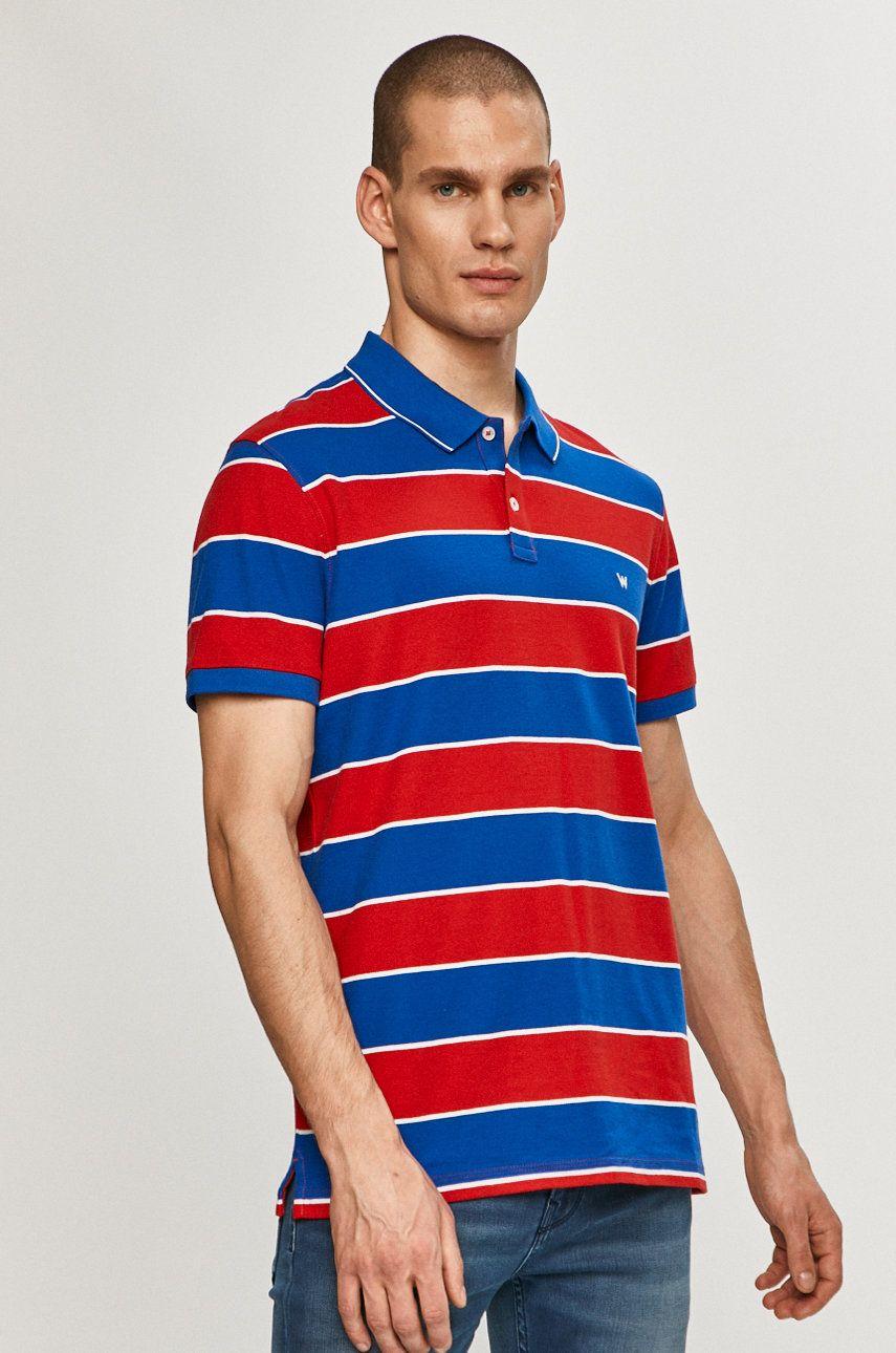 Wrangler - Tricou Polo imagine answear.ro