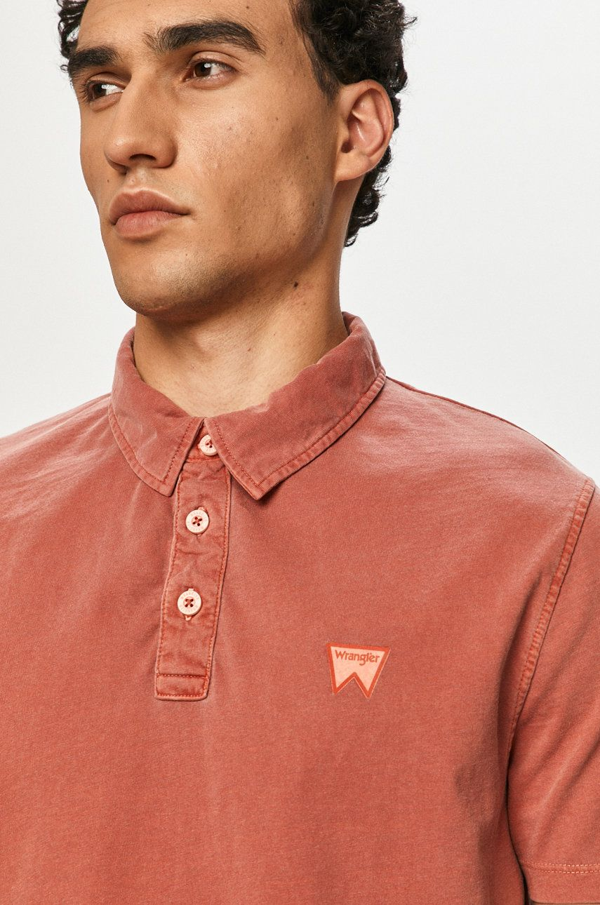 Wrangler - Tricou Polo imagine answear.ro