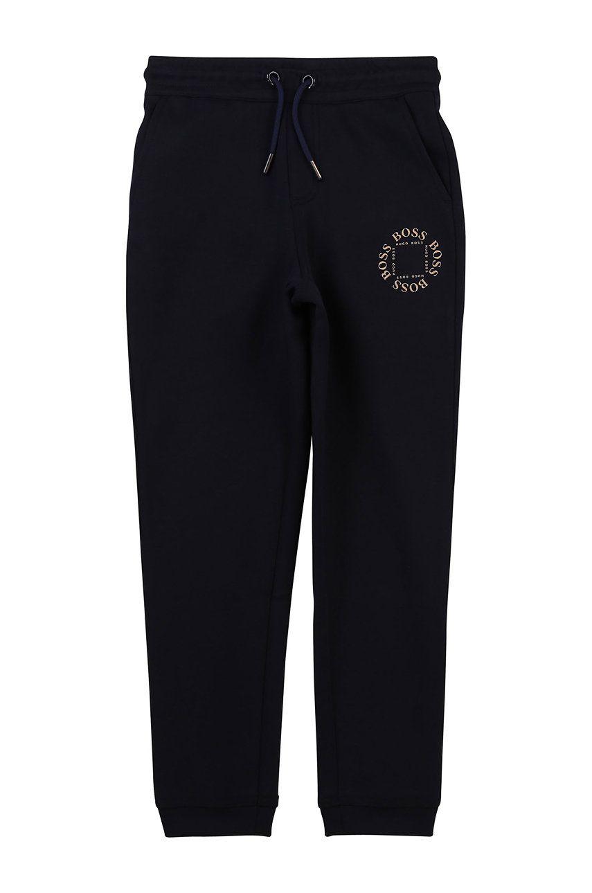 Boss - Pantaloni copii imagine answear.ro