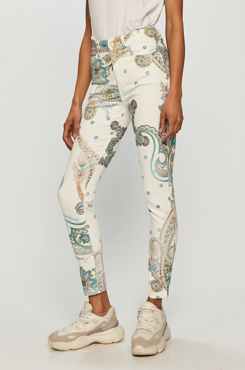 Desigual - Pantaloni imagine answear.ro 2021