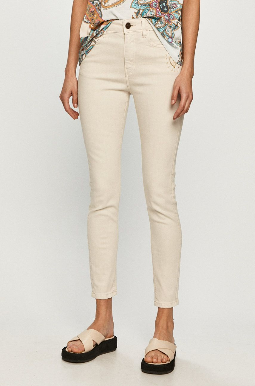Desigual - Pantaloni imagine answear.ro