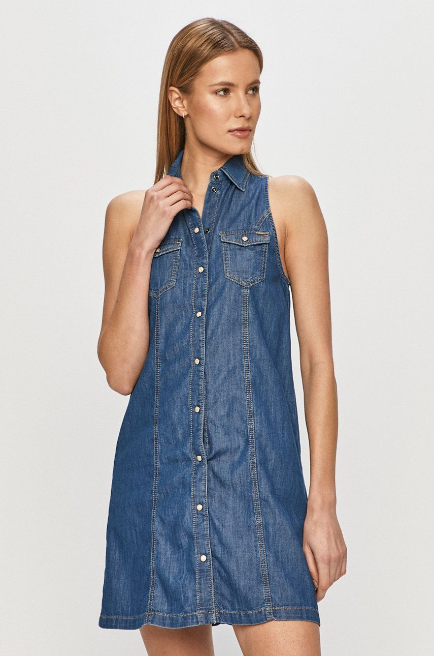 Pepe Jeans - Rochie jeans Jess imagine