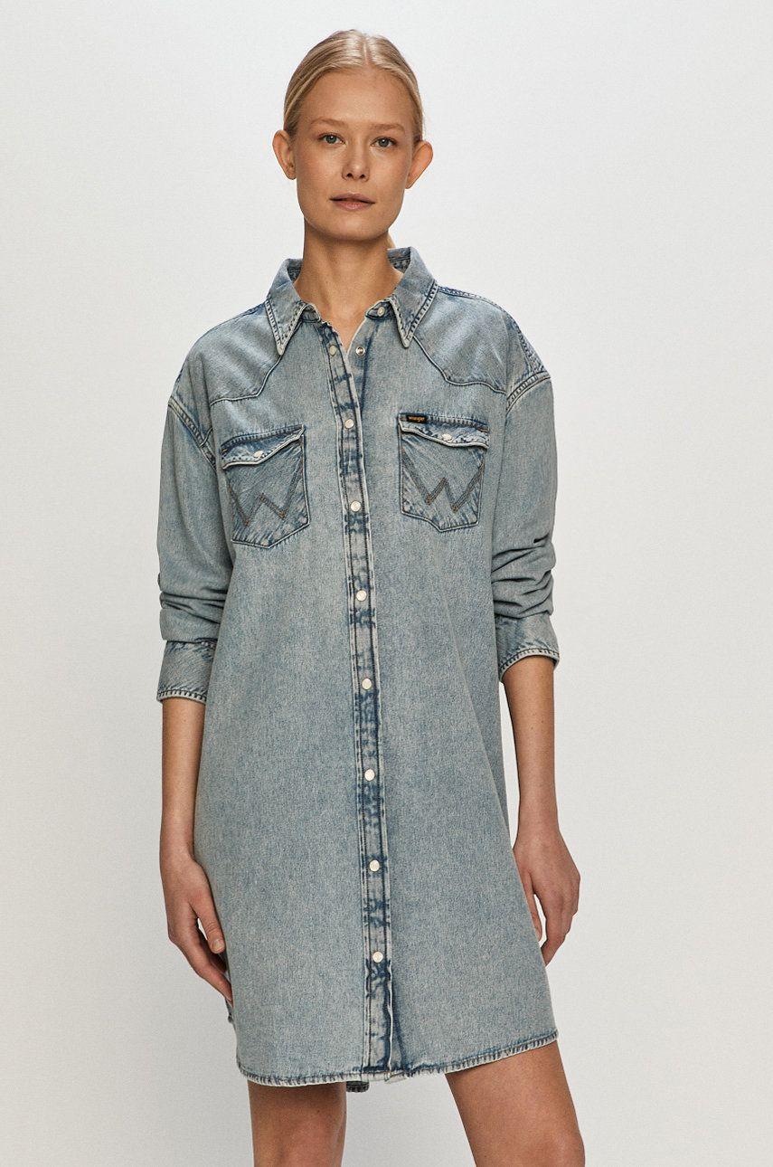 Wrangler - Rochie jeans imagine answear.ro