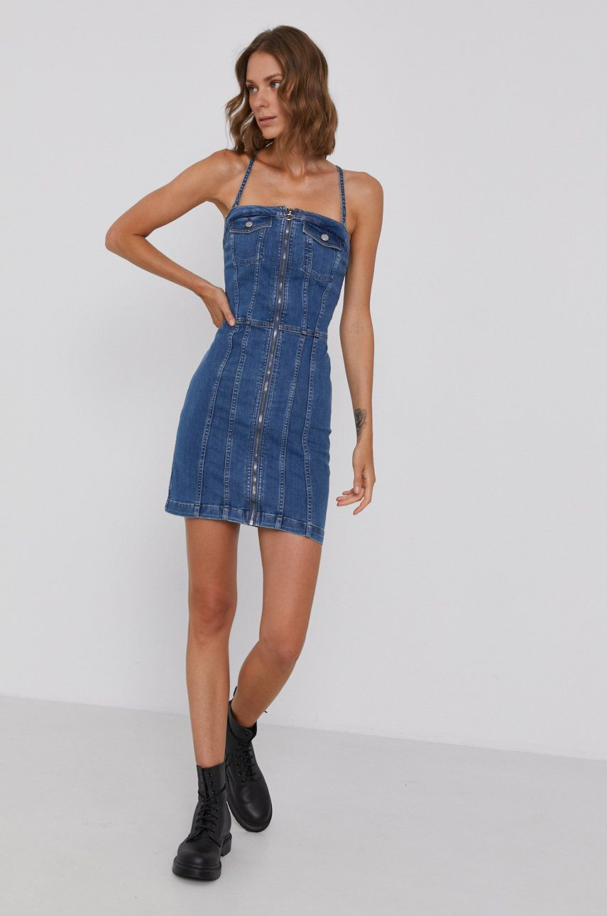 Pepe Jeans - Rochie jeans Mirella