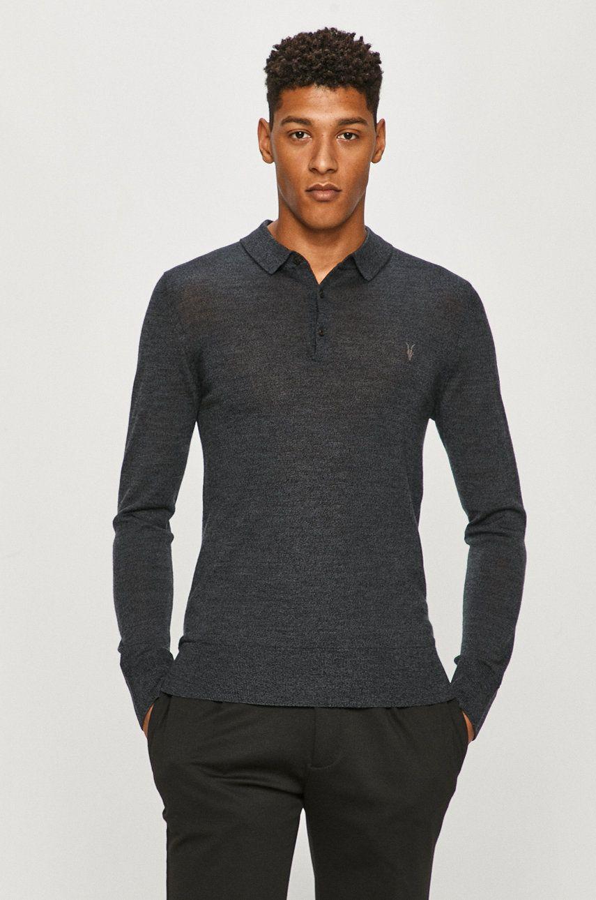 AllSaints - Pulover Mode Merino LS Polo imagine answear.ro