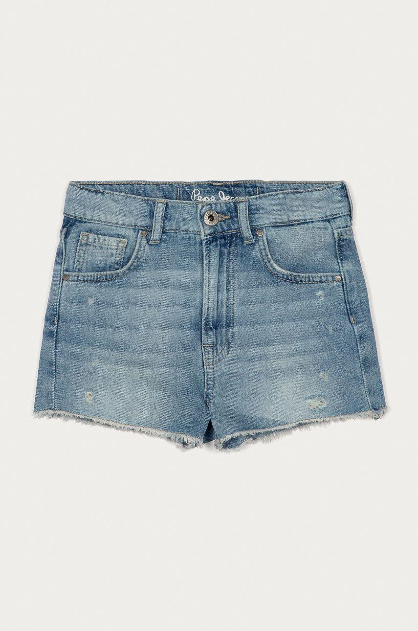 Pepe Jeans - Pantaloni scurti din denim pentru copii Patty 128-180 cm imagine answear.ro 2021