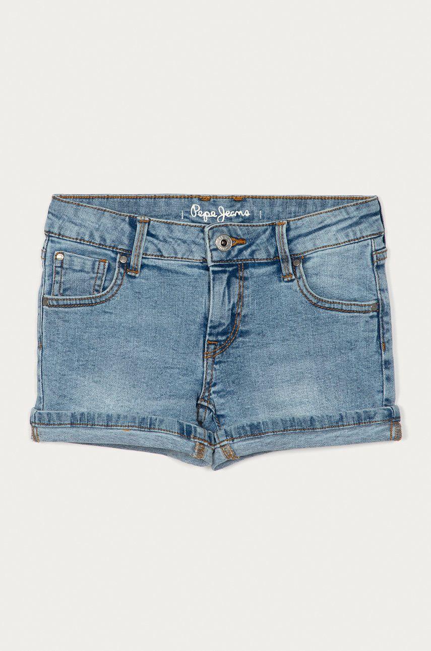 Pepe Jeans - Pantaloni scurti din denim pentru copii Foxtail 128-180 cm imagine answear.ro 2021