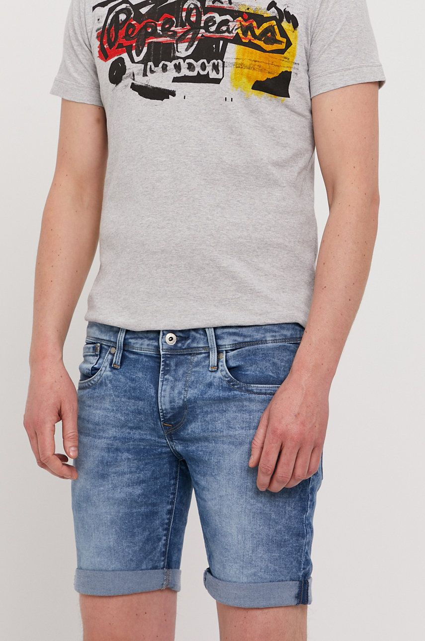 Pepe Jeans - Pantaloni scurti jeans Hatch answear.ro