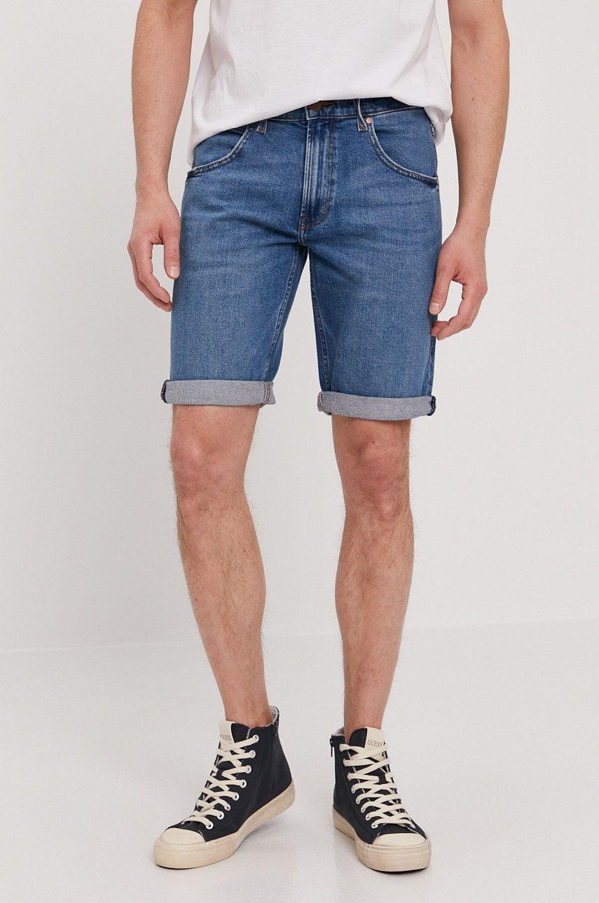 Wrangler - Pantaloni scurti jeans imagine answear.ro 2021