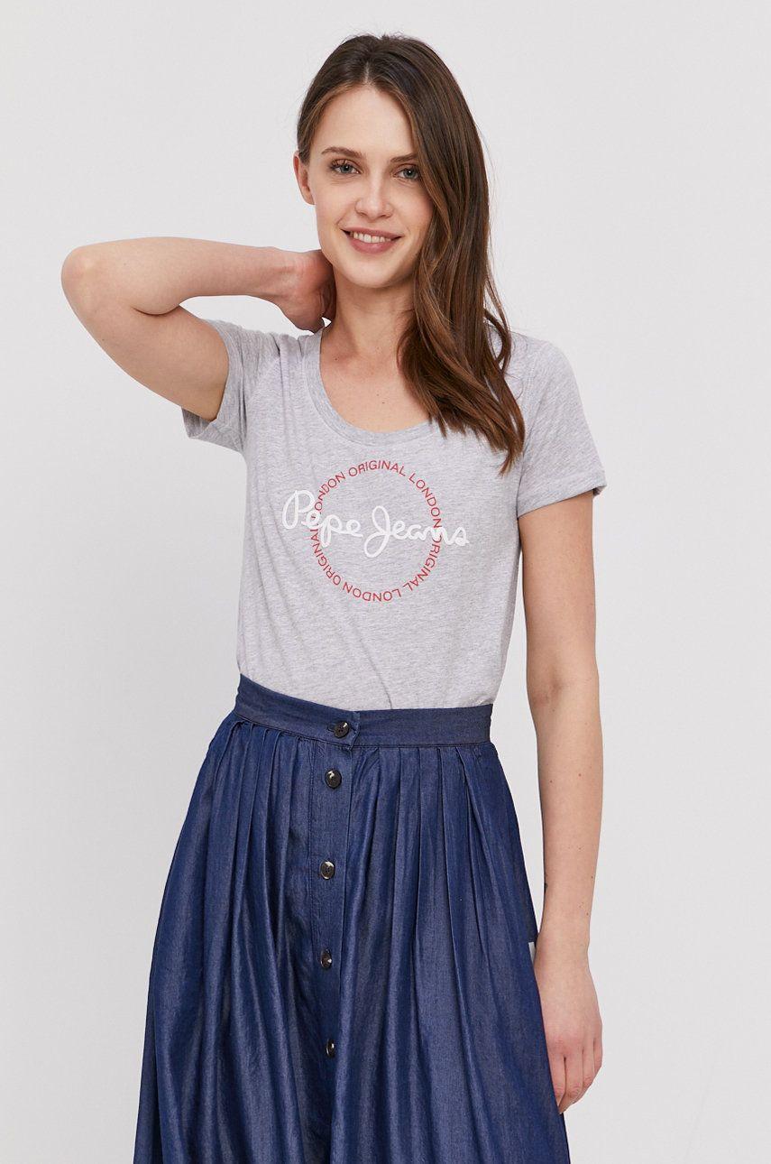 Pepe Jeans - Tricou Blanche