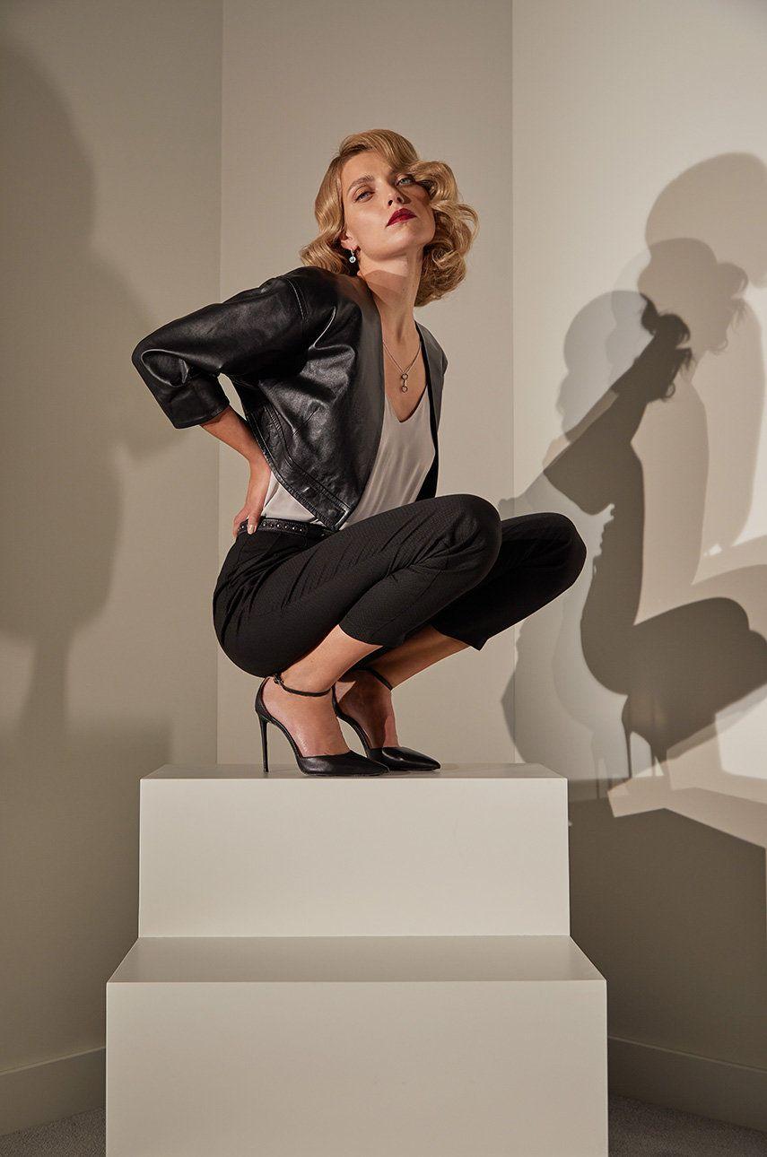 answear.LAB limited collection - Sacou de piele imagine answear.ro