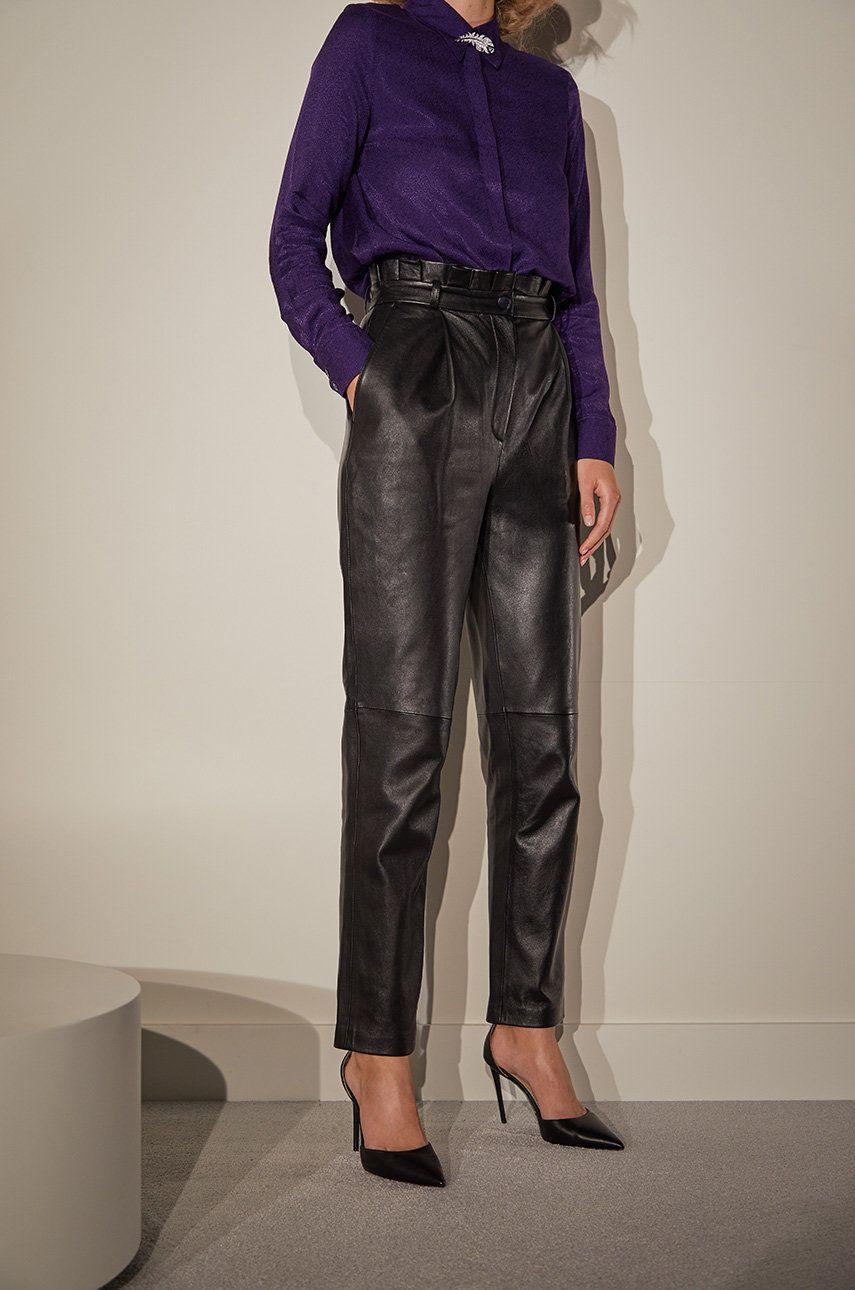 answear.LAB limited collection - Pantaloni de piele imagine answear.ro