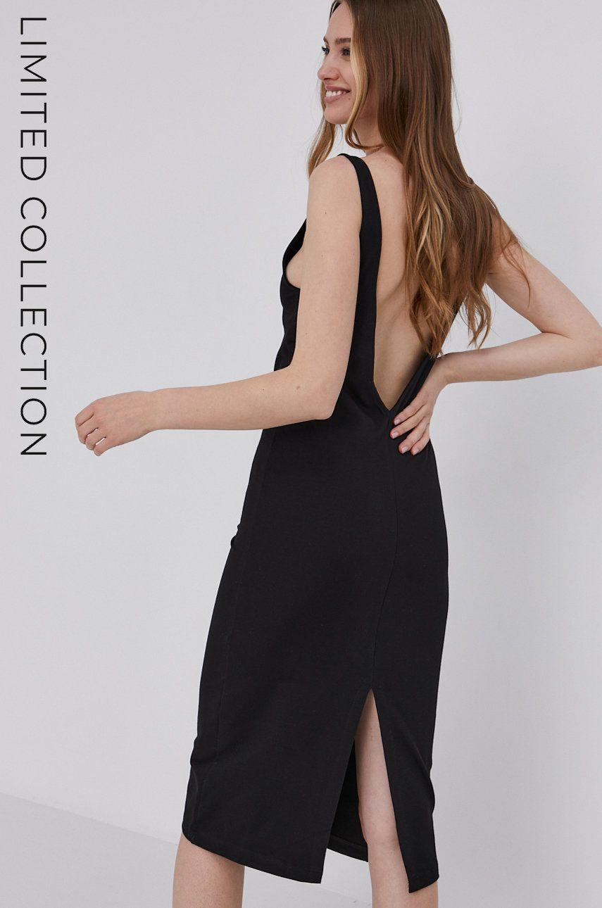 Answear Lab - Rochie cu certificat OEKO din colectia limitata Ethical Wardrobe