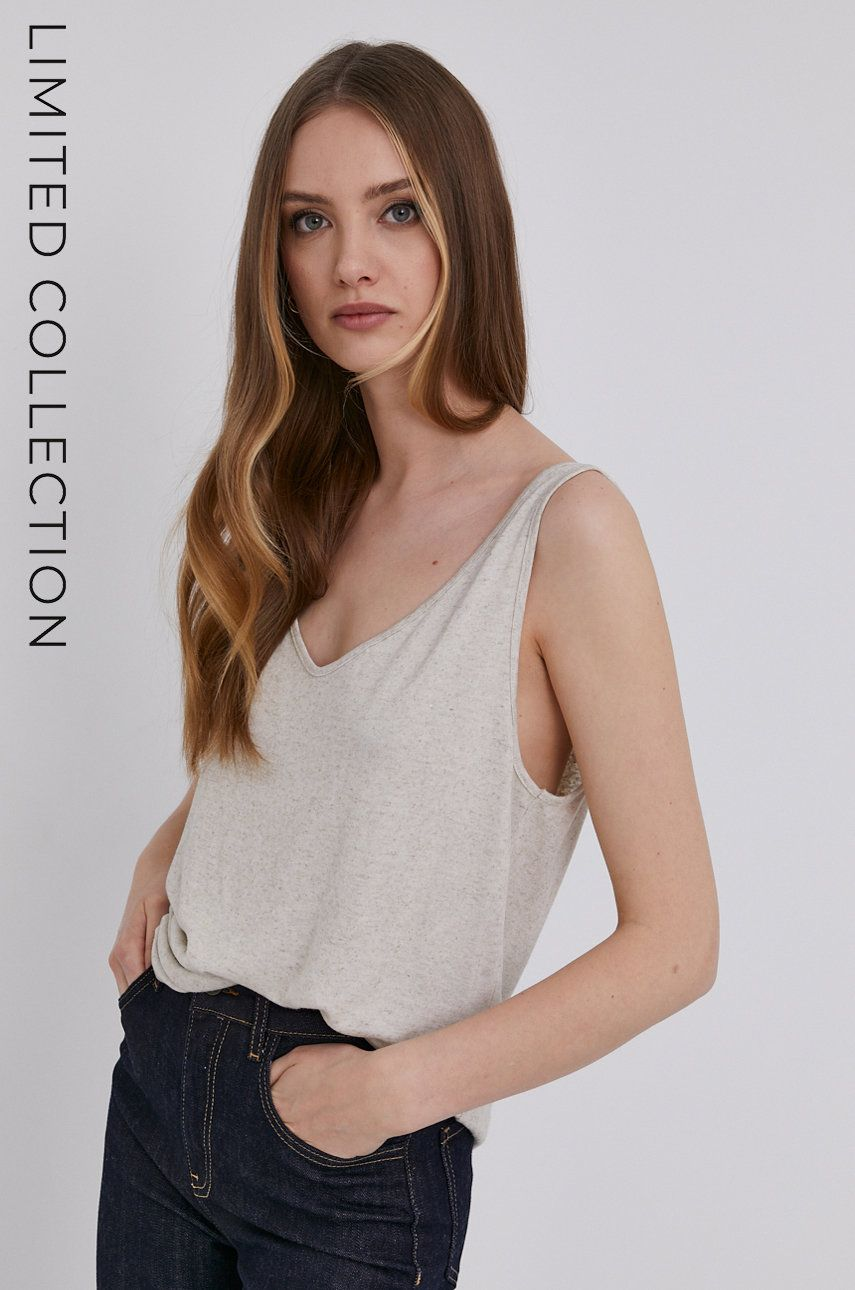 Answear Lab - Top cu certificat OEKO din colectia limitata Ethical Wardrobe