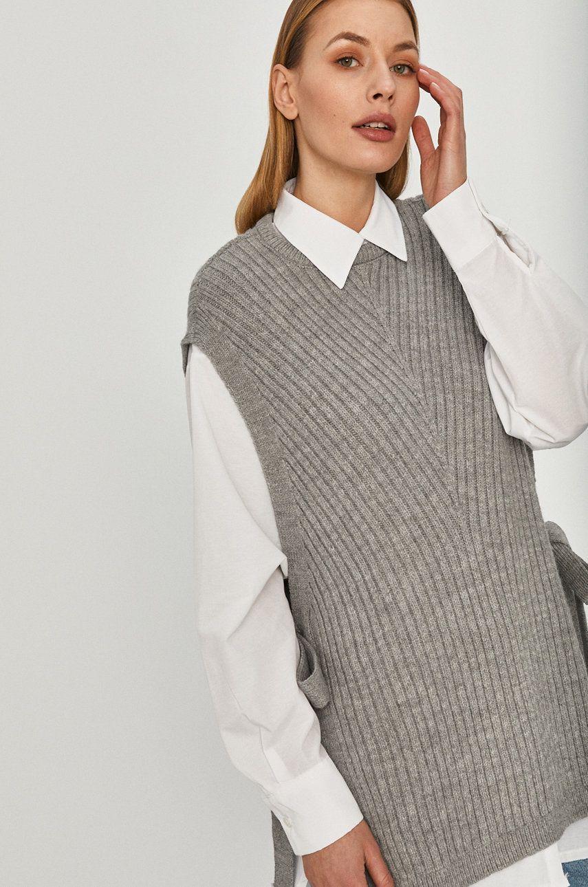 Answear Lab - Camasa cu pulover imagine
