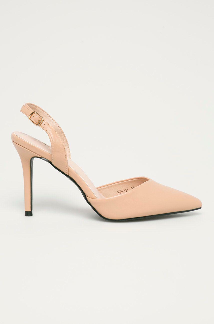 Answear Lab - Pantofi cu toc Colour Cherie