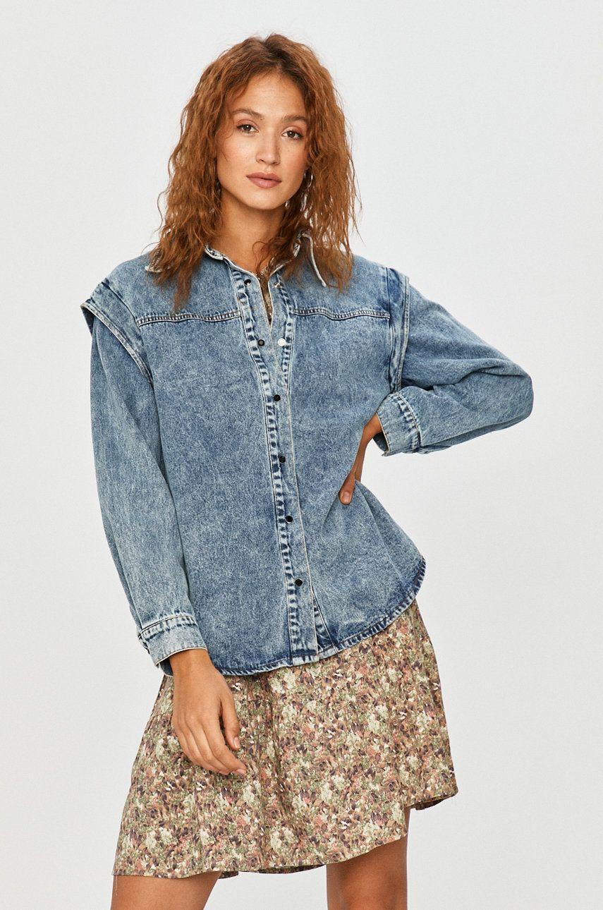 Answear Lab - Geaca jeans poza answear