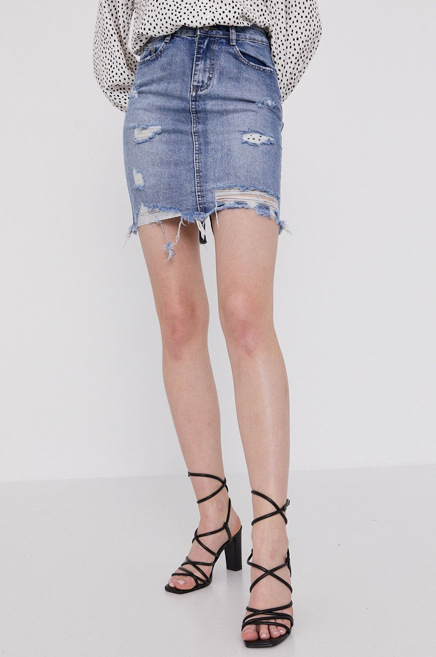 Answear Lab - Fusta jeans answear.ro