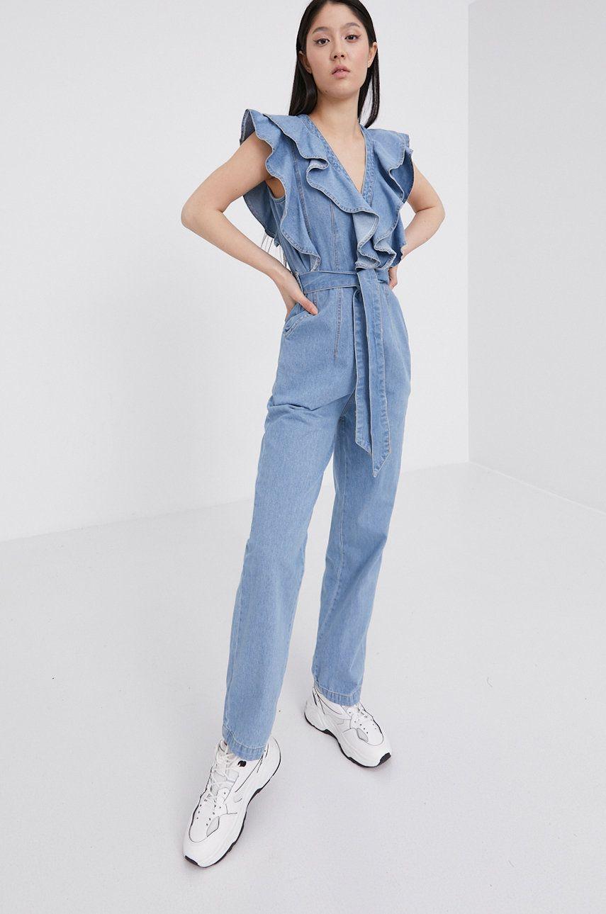Answear Lab - Salopeta jeans imagine answear.ro