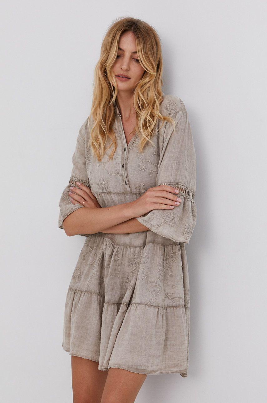 Answear Lab - Rochie din bumbac Garment Dyed