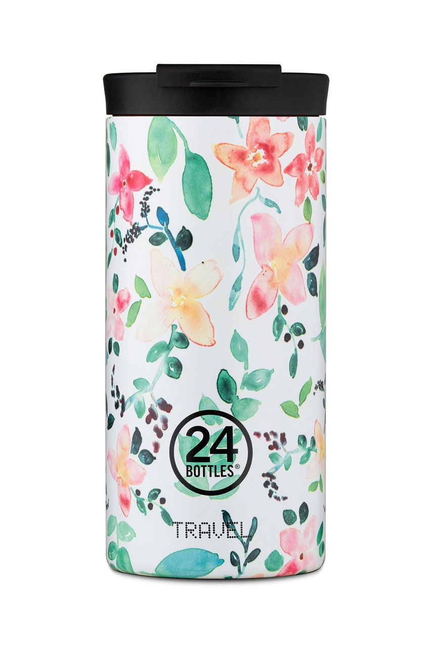 24bottles - Cana termica Travel Tumbler Little Buds 600ml imagine answear.ro