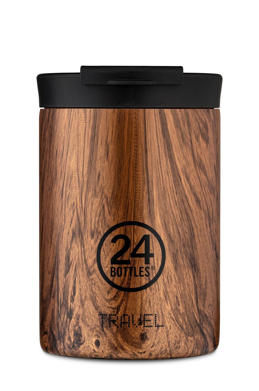 24bottles - Cana termica Travel Tumbler Sequoia Wood 350ml imagine answear.ro