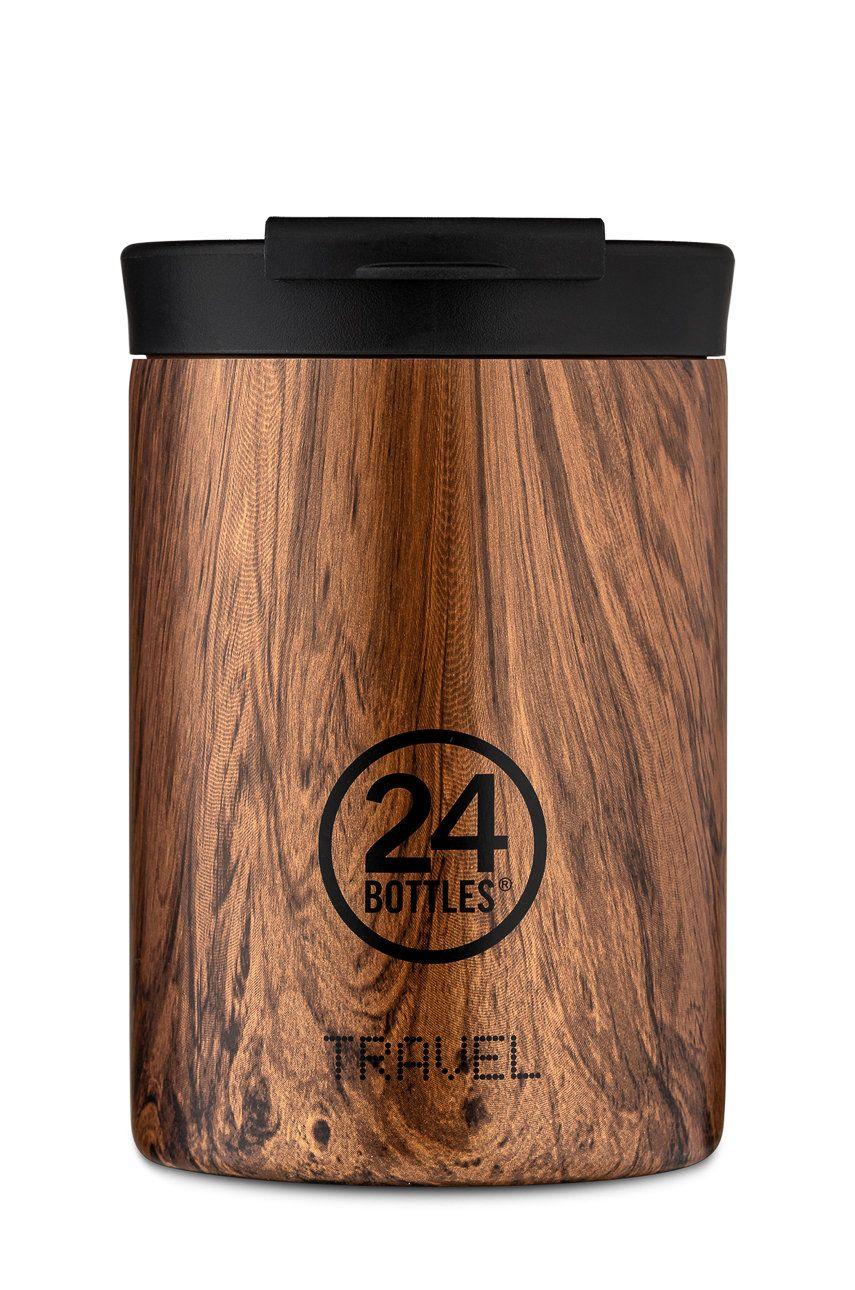 24bottles - Cana termica Travel Tumbler Sequoia Wood 350ml answear.ro