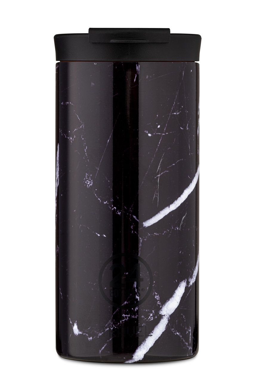 24bottles - Cana termica Travel Tumbler Black Marble 600ml imagine answear.ro