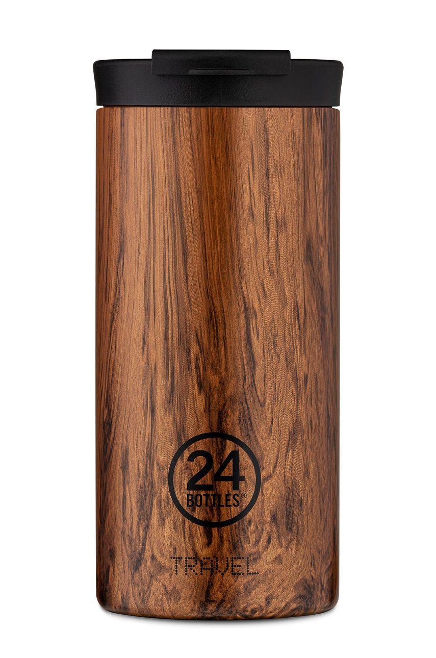 24bottles - Cana termica Travel Tumbler Sequoia Wood 600ml imagine answear.ro
