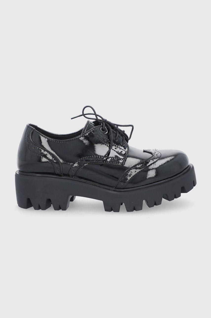 Altercore - Pantof Nefi Vegan Black Patent imagine answear.ro