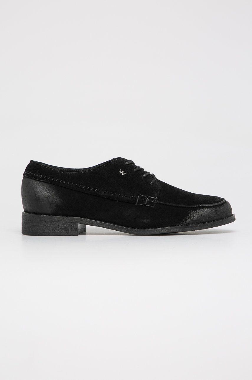 Wojas - Pantofi de piele intoarsa